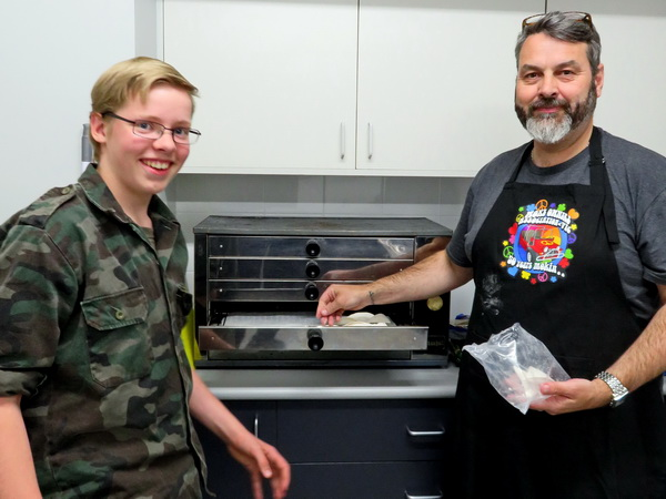 Picture of Scott Williams and Andrew Reminga in the Kitchen.