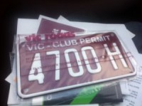 Vic Roads Club Plates for Mokes
