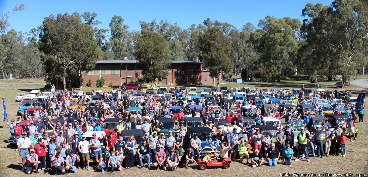 Mokes and People at the 2016 Shepparton Moke Muster
